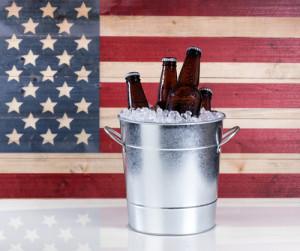 American Beers at Hoffbrau Steakhouse Fourth of July in Dallas
