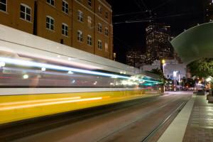 DART Train to Downtown Dallas TX