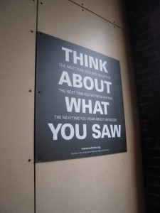 think about what you saw + dallas holocaust museum