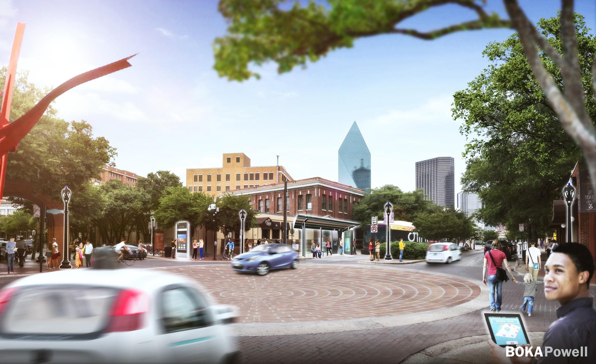 Smart-City-Street-View-Dallas West End